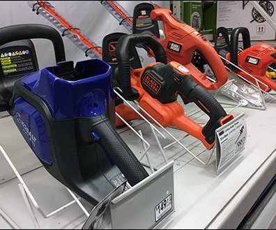 Retail Rack For Hedge Trimmer Display