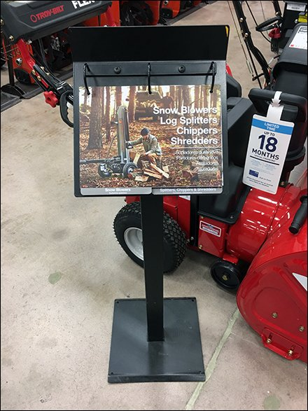 How To Buy A Snow Blower Literature Floor Stand