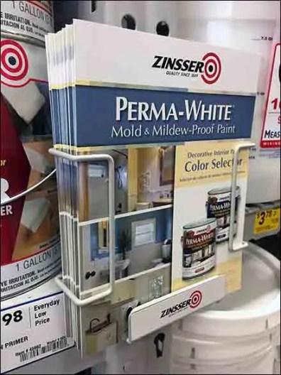 Zinsser Paint Pallet Rack Literature Holder