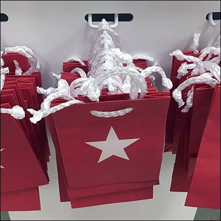 Macys Retail Fixtures - Macy's Miniature Gift Card Bags Hooked