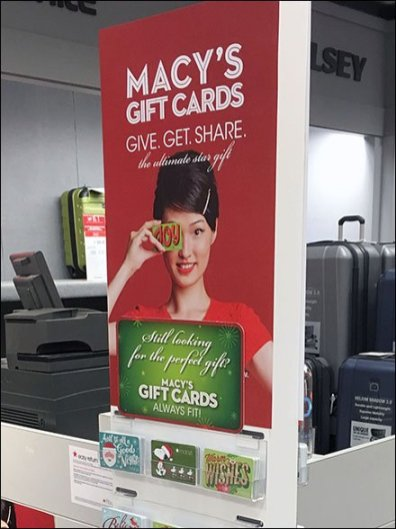 Macy's Branded Miniature Gift Card Bags Hooked