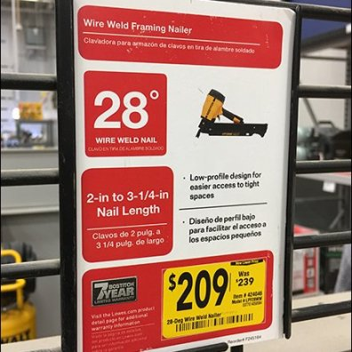"""Heavy-Duty C-Channel Sign Holder for 1"""" Grid"""