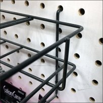 Premium Hexagonal Bobby-Pin Pegboard Rack
