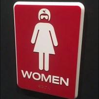 iFly InDoor Skydiver Branded Restroom Sign