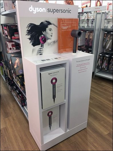 Dyson SuperSonic Hair Dryer Display POP 4