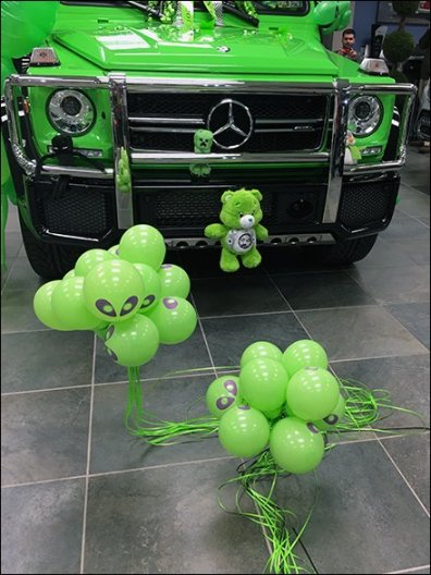 Mercedes Benz 2017 G63 AMG Alien Green