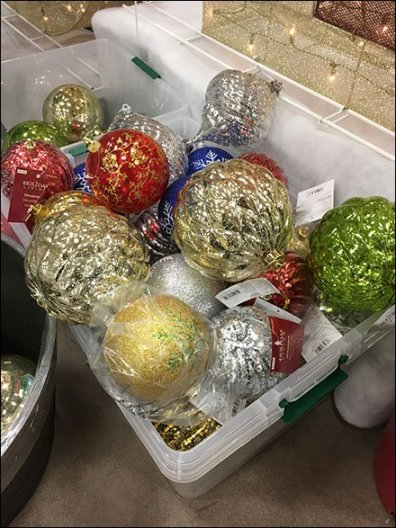 Giant Christmas Ball Tote Bins 2