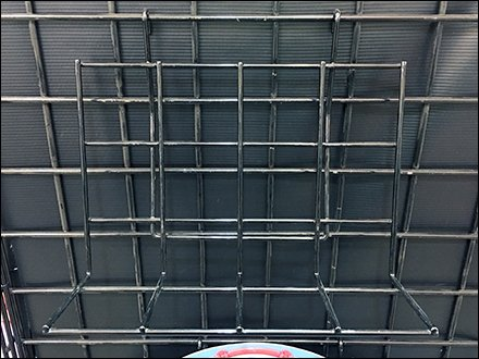 GridWall Angle-Back Ledge In Open Wire