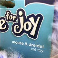Hanukkah Mouse and Dreidel Cat Toy