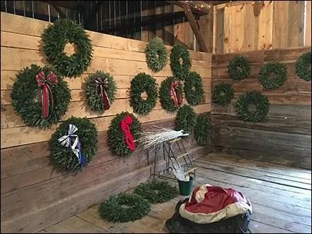 Tree Farm Christmas Wreath Showrooming