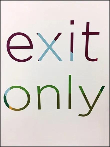 Kohls Exit Only Sign 3