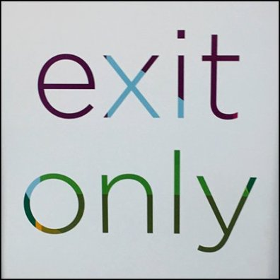 Kohls Exit Only Sign Feature