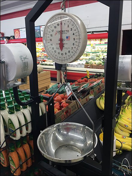 Maines Source Floor Standing Produce Weigh Stand