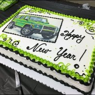 Mercedes Benz 2017 Alien Green Party Cake 2