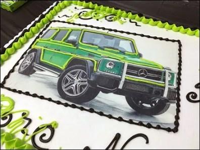 Mercedes Benz 2017 Alien Green Party Cake 3