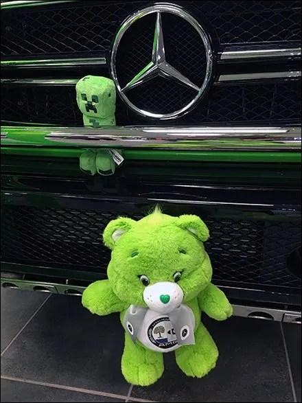 Mercedes Benz 2017 Alien Green Plush 3