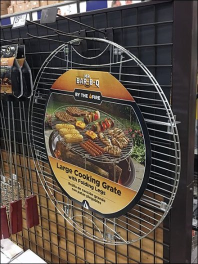 Mr Bar-B-Q Cooking Grate On Grid Wall