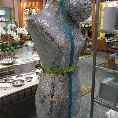 Party-Hearty Sequin Dress Form