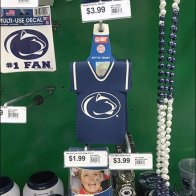 Penn State Party Favors on FISH-Tip Scan Hooks