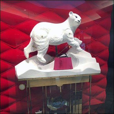 Polar Bear Animaton At Louis Vuitton