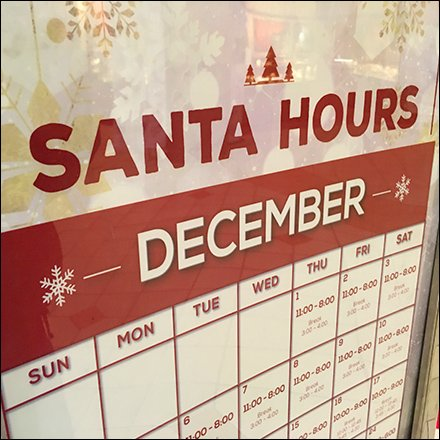 Santa Hours For December Feature
