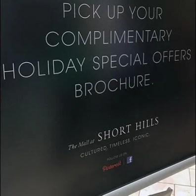 Short Hills Mall Brochue Holder 3