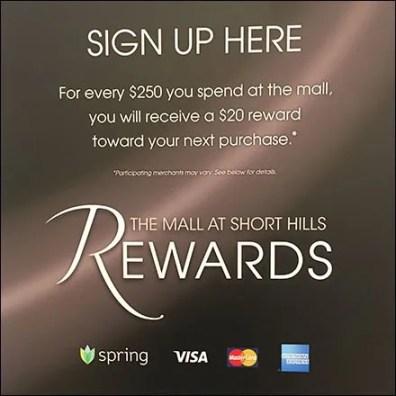 Short Hills Mall Rewards Feature