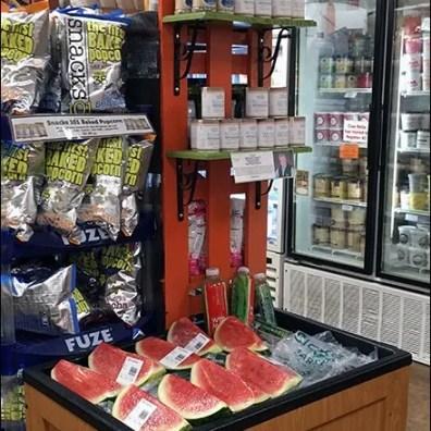 Sickles Iced Watermelon Endcap Bin 2