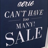 Aerie Can't Have Too Many Sale Easel 3