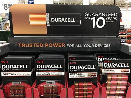 Duracell Coppertop Copper-Sided Display