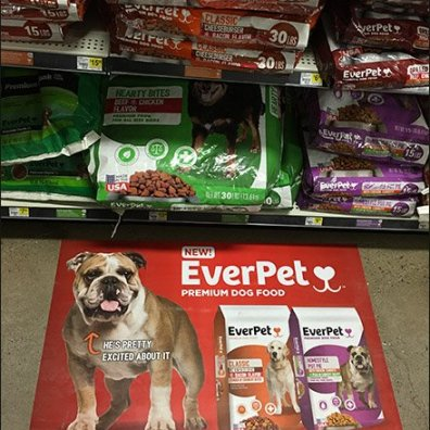 EverPet Dog Food Floor Graphic 4