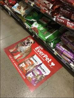 EverPet Dog Food Floor Graphic 5