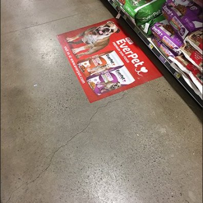 EverPet Dog Food Floor Graphic 6