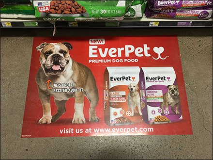 EverPet Floor Graphic Drive-By in Dog Food