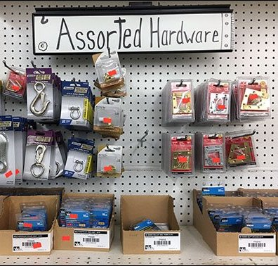 Hand-Lettered Category Definition In Hardware