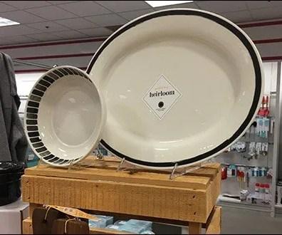 Heirloom Tableware Wood Crate Display