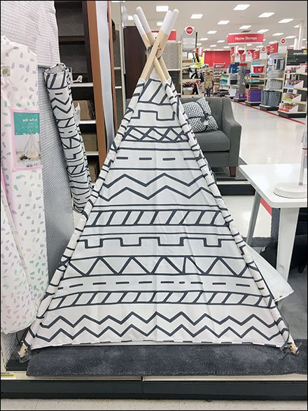 Center Store TeePee Camping Display