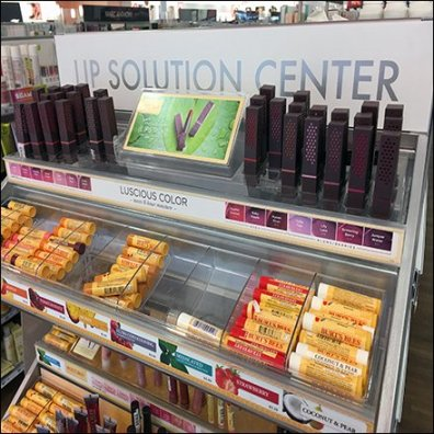 Lip Balm Solution Center Display Feature