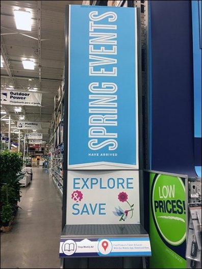 Lowes Spring Literature Holder Mobile App Tower 2