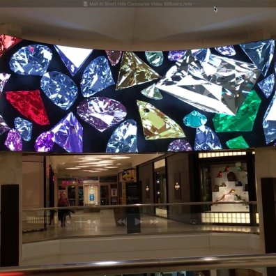 Mall at Short Hills Concourse Video Billboard 01