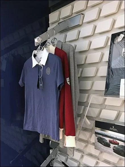 Maserati T-Shirt Waterfall For Custom Slatwall