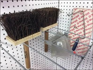 Masonry Brush Double-Facing Pegboard Rack