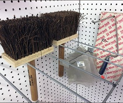 Masonry Brush Double-Facing Pegboard Rack