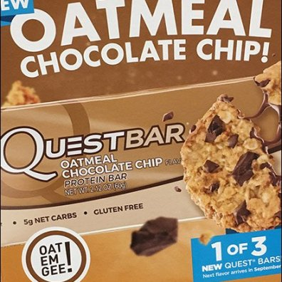 Quest Oatmeal Chocolate Chip Corrugated POP Display 6