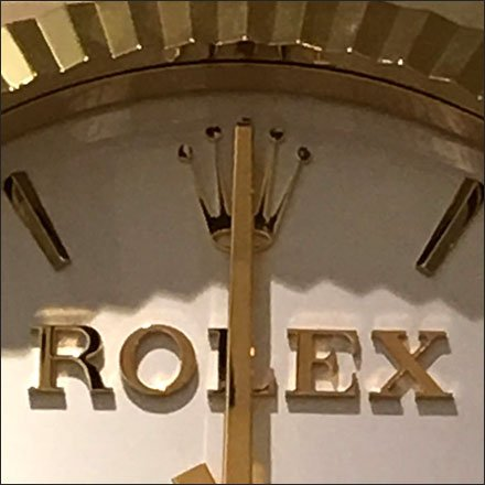 Rolex® Watch as Branded Wall Clock
