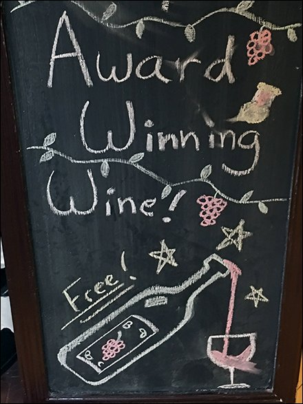 Sample Award Winning Wine Free Easel 3