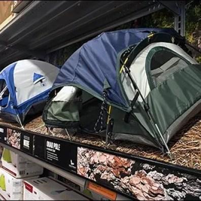 Shelf-Edge Camping Tent Miniatures 2