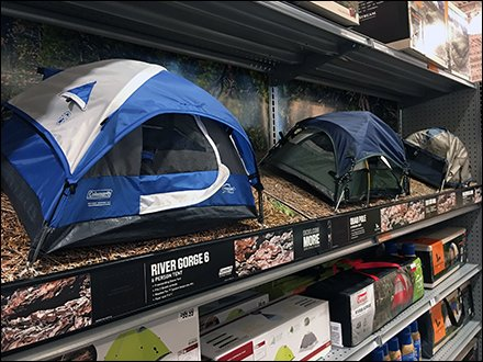 Camping Tent Miniatures as Sporting Goods Try-Me Samples