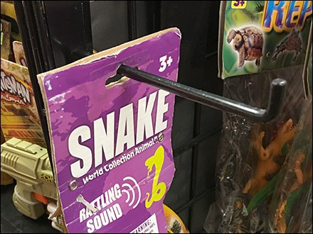 Snake Sales on 90º Tip Grid Display Hook