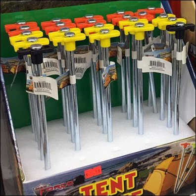Camping Tent Peg Try-Me Shelf-Top Displays